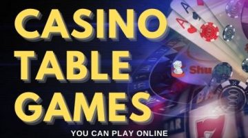 6 Popular Casino Table Games You Can Play Online